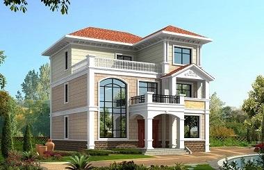 经典三层复式别墅设计图,占地150平方米