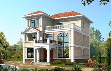 轩鼎原创爆款三层复式别墅设计图,外观及户型非常符合现代农村建房需求