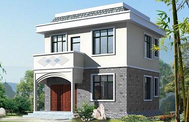 占地50平方米精致2层小别墅设计图,造价十二万左右,适合一家人居住