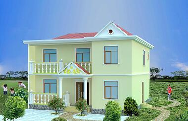 造价20万左右的二层自建房屋设计图,占地100平方米。经济实用