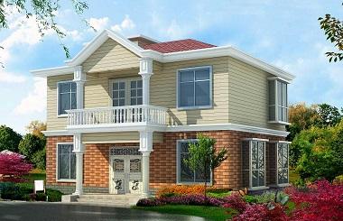 占地120平方米小巧精致的二层自建别墅设计图,内部布局完善合理,经济实用