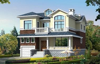 精致二层带车库小别墅设计图,带有阁楼和跃层,经济美观