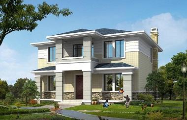 简单大方的二层自建房屋设计图,房间数量正可好,适合一家人居住