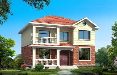 精致二层自建房屋设计图,占地110㎡左右,房间数量较多,经济实用