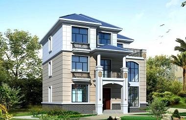 面宽12米,进深11米,占地面积140㎡左右的三层自建小别墅设计图