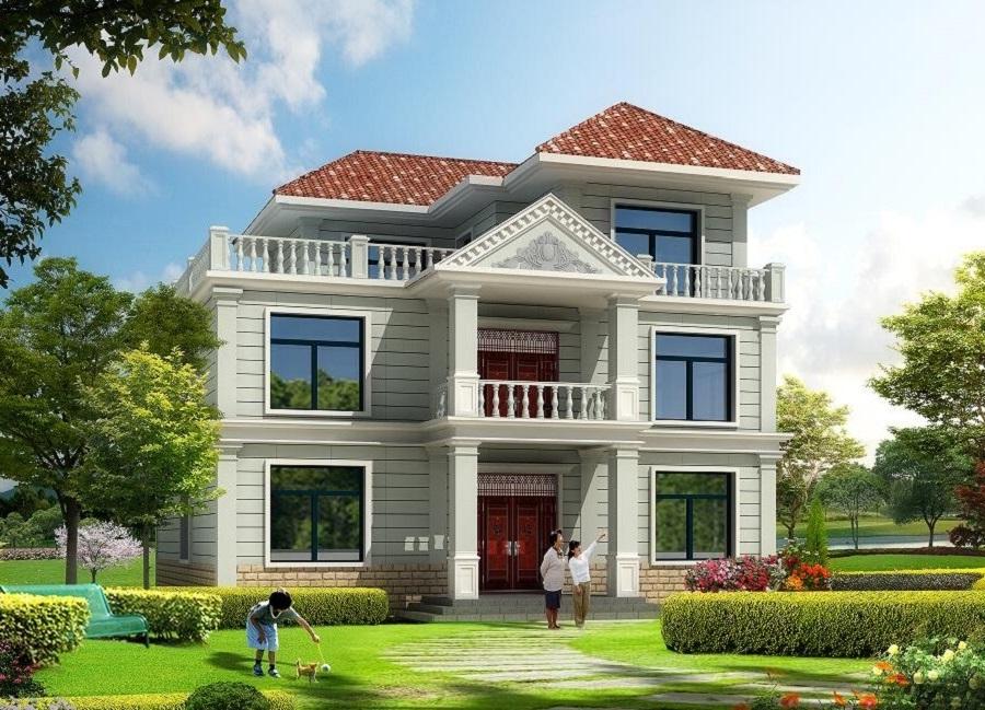经典二层半自建房屋设计图,农村自建房首选
