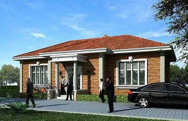 面宽16米,进深10米,一层自建房屋设计图,占地140平方米左右