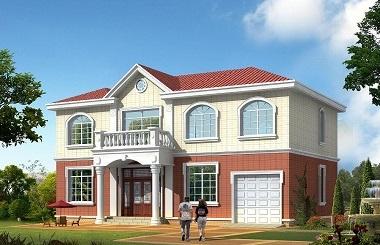 温馨浪漫的二层田园小别墅设计图,带有室内车库,你值得拥有!