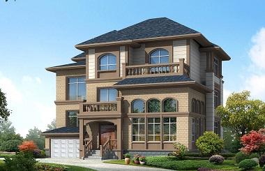 经典配色三层复式别墅设计图,带有室内车库