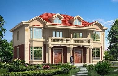 单户占地100多平方米的双拼自建别墅设计图,经济实用