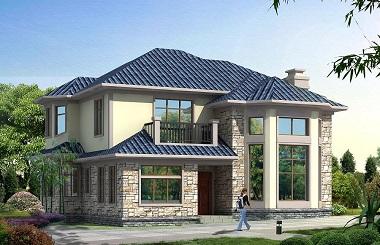 面宽13米,进深14米,占地面积170㎡左右二层自建别墅设计图