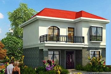 超受欢迎的小户型二层自建别墅设计图,造价20万左右