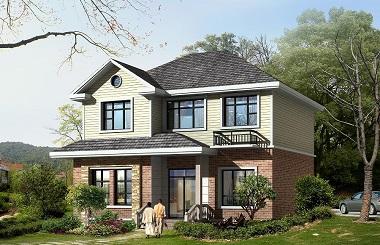 经典二层田园风格小别墅设计图,占地100平方米左右