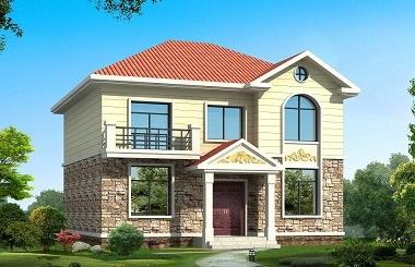 现代二层自建小楼设计图,精致美观造价15万左右,自建房首选
