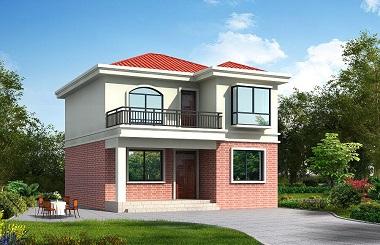 超高人气自建房屋设计图,15万左右盖二层小别墅