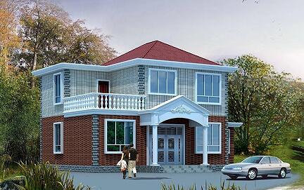 经济实用型二层自建小别墅设计图,附赠工程量统计