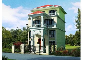 三层带夹层别墅设计图,美观精致,占地面积较小经济实用