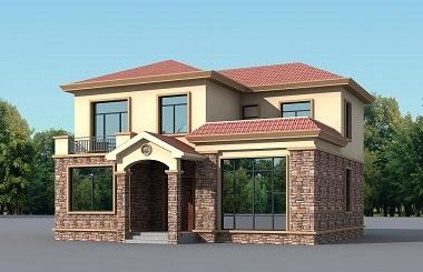 大众户型二层自建小别墅设计图,美观精致,经济实用