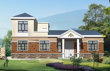 造价25万左右的一层半自建房屋设计图,经济实用型设计方案