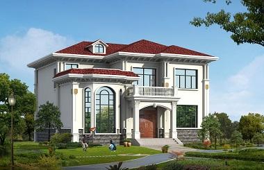 精品欧式二层复式别墅设计图,占地170平方米,30万左右建小别墅