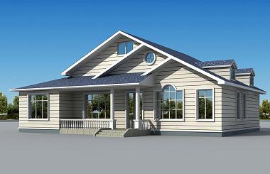 一层精致的小别墅设计图,两个颜色方案可供选择