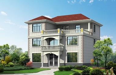 13.54m*12.62m三层欧式小别墅设计图,含全套完善施工图纸