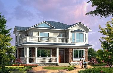 美观精致的二层海滨小别墅设计图,20万左右建精美房屋