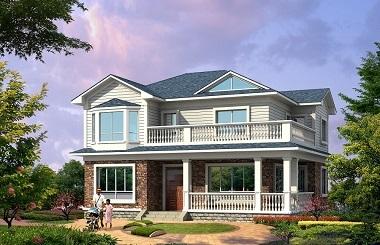 精品二层海滨小别墅设计图,占地120平方米左右,自建房首选
