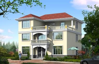 简单实用的三层自建别墅设计图,40万左右建三层别墅