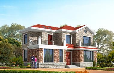 14*9m二层田园小别墅设计图,美观温馨