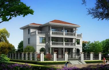 法式经典联排别墅设计图,精致双拼占地200多平方米,经济实用