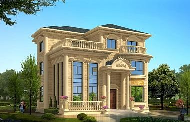 欧式三层高端复式别墅设计图,奢华大气,高贵的象征