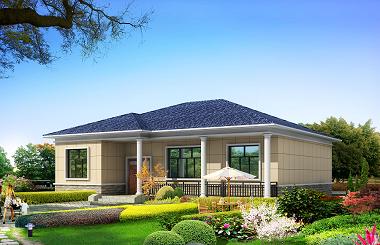 14*12m一层自建别墅设计图,造价15万左右,四个卧室,经济实用型设计方案