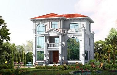 高端欧式三层自建别墅设计图,含全套施工图纸