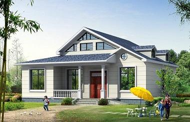 精品一层带阁楼自建小别墅设计图,美观精致造价15万左右