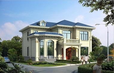 美观精致的自建房屋设计图,27万左右键二层精品别墅