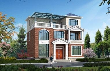 漂亮的三层自建小别墅设计图,温馨美观,居住舒适