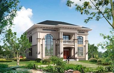 经典高端二层自建房屋设计图,15*17m,造价45万左右