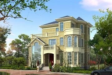 古典欧式自建复式别墅设计图,占地面积140㎡左右,性价比超高