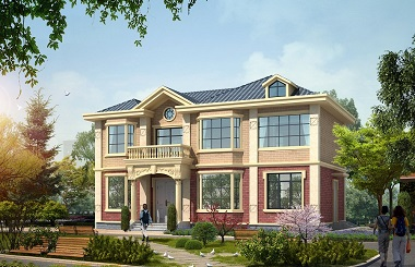 美式二层自建小别墅设计图,美观精致,布局合理,经济实用