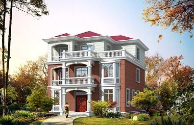 配色靓丽的三层现代自建房屋设计图,11.5m*13m,造价45万左右
