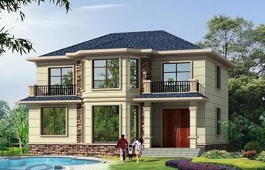 13.4m*11.4m二层农村自建房屋设计图,简单朴素,造价合理