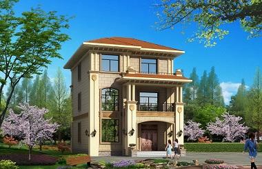 精致的三层小户型自建别墅设计图,8.8m*13m ,30万左右建三层房屋