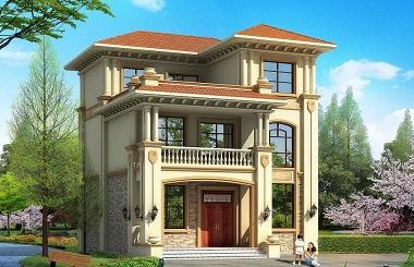 欧式三层自建别墅设计图,小户型,符合大多数家庭使用需求