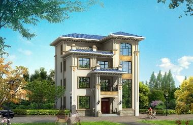 简约四层复式自建别墅设计图,占地156平方米,小户型四层自建房屋