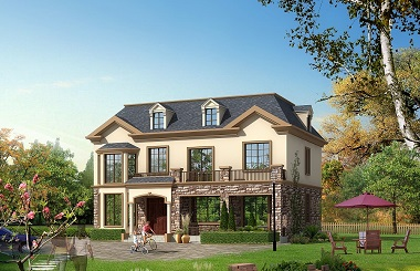 精品田园风格二层房屋设计图,带有阁楼老虎窗,农村自建房首选