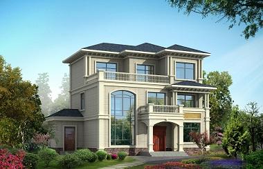 带土灶三层欧式自建房屋设计图,农村三层自建房屋,美观精致