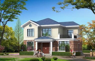 12.24m*9.59m二层小户型田园别墅设计图,含全套完善施工图纸