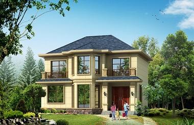 11.64m*10.14m二层自建房屋设计图,小户型经济实用