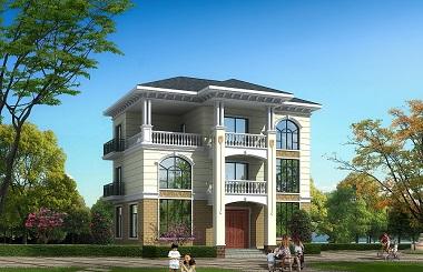 现代三层自建房屋设计图,13*10吗,造价30万左右,经济实用